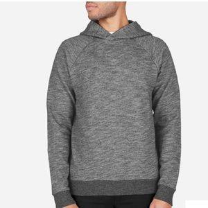 Everlane Gray Marled Pullover Hoodie Sweatshirt